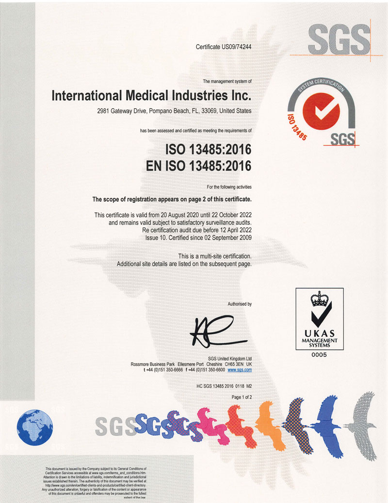 IMI International Medical Industries, Inc.